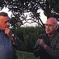 Charles Hardman and Harold Koopowitz discussing plants, Lee Poulsen
