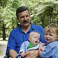 Rob, with sons James and Alex, Rob Hamilton
